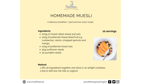 Homemade Muesli Recipe