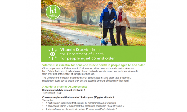Vitamin D recommendations for Older Adults