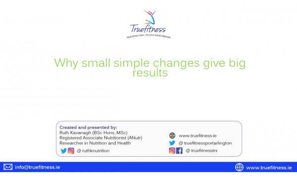 Why small changes give big results - FREE WORKSHOP